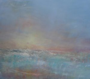 Dusk Porth Nanven oil on canvas 95 x 110 cm £1800