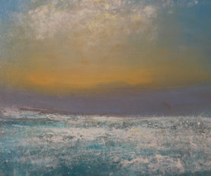 Foam at Sunset Sennen Cove. Oil on canvas 73x85 cm 2016 £1500