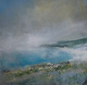 Mist above Portheras Cove Oil on canvas 80x80 cm £1500
