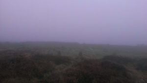 Tregeseal stone circle in the mist